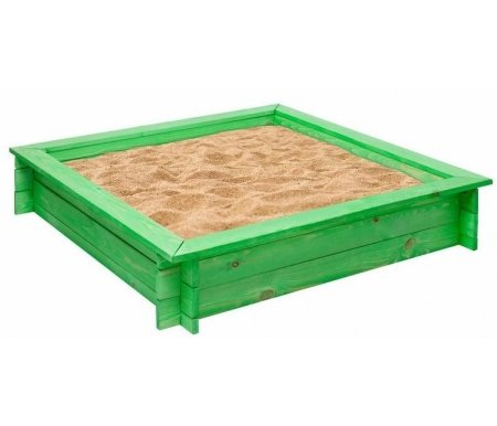 Купить Деревянная песочница Paremo, Клио зеленая, Россия, зеленый