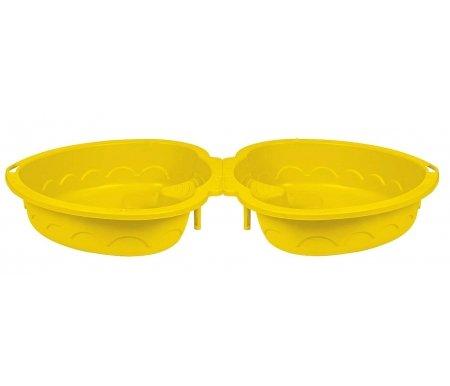 Детская песочница-бассейн Лето 2 желтаяДетские песочницы<br><br>