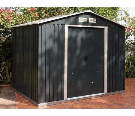 Металлический сарай Isak 10x8Хозблоки и сараи<br>Площадь внутренняя: 7,24 кв.м. <br>Ширина дверного проема: 130 см.<br> Размер упаковки: 190 x 90 x 15 см.<br><br>  <br><br>  Особенности:<br><br>  - антикоррозионная обработка (цинкование, поверхностная покраска);<br><br>  - раздвижные двери.<br><br>Сарай можно ставить только на ровную поверхность (асфальт, плитка).<br>