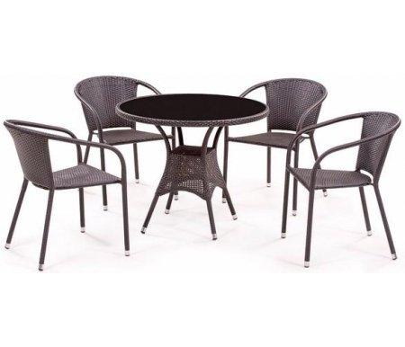 """Комплект мебели """"стол T-197A и 4 кресла Y-137C"""" Афина"""