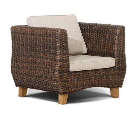 Купить Кресло 4sis, из ротанга Идли / Нола темно-коричневое, Китай, темно-коричневый