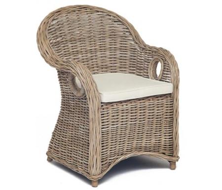 Купить Кресло Тетчер, из ротанга Secret De Maison Maisonet natural grey, натуральный / whitewashed