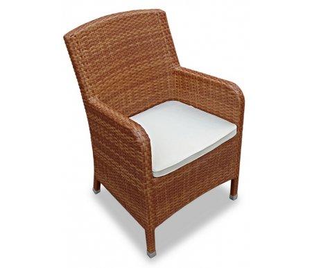 Плетеное кресло Mikos обеденное тикКресла<br>Кресло плетеное вручную из искусственного ротанга высокого качества. Подушки сделаны из водоотталкивающей ткани высокого качества со специальной пропиткой.<br>