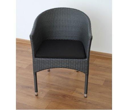Плетеное кресло Pey темно-коричневое Joygarden