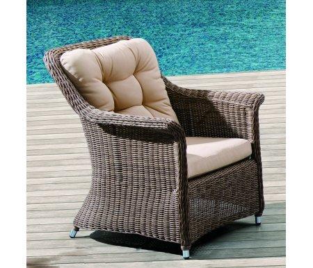 Плетеное кресло YorkКресла<br>Кресло плетеное вручную из искусственного ротанга высокого качества. Подушки сделаны из водоотталкивающей ткани высокого качества.<br>