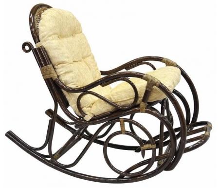 Кресла-качалки из ротанга с подножкой 05/11 KD браун  Кресло-качалка Garden