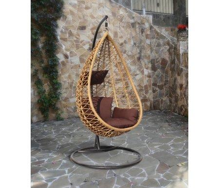 Плетеное подвесное кресло из ротанга Joygarden