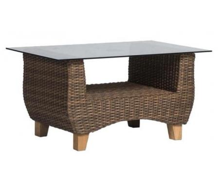 Купить Кофейный стол 4sis, из ротанга Идли / Нола темно-коричневый, Китай