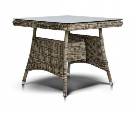 Обеденный стол 4sis, из ротанга Анис / Венето соломенный, Китай  - Купить