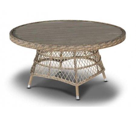 Купить Обеденный стол 4sis, из ротанга Сандал / Неаполь серо-соломенный, Китай