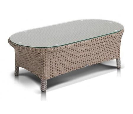 Купить Журнальный стол 4sis, из ротанга Самбар / Римини серый, Китай, серо-коричневый