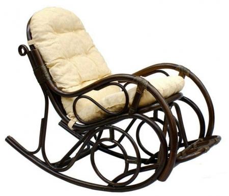 Кресло-качалка 05/11 matte kd БраунКресла-качалки<br>Оплетка изготовлена из натуральной кожи. Ротанг относится к классу А - он более прочный, гибкий и гладкий, сделан без какого-либо покрытия, что придает креслу более натуральный и матовый вид.<br>