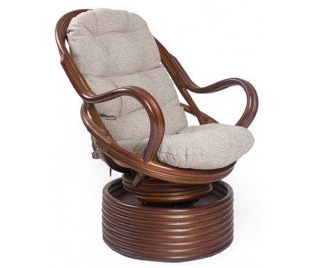 Кресло-качалка Davao с подушкой коньякКресла-качалки<br>Ширина сиденья:50 см. <br>Высота сиденья:45 см.<br> <br>Высота спинки:80 см.<br>