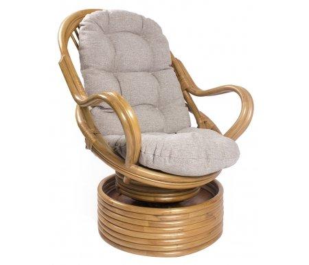 Кресло-качалка Davao с подушкой золотой медКресла-качалки<br>Ширина сиденья:50 см. <br>Высота сиденья:45 см.<br> <br>Высота спинки:80 см.<br>