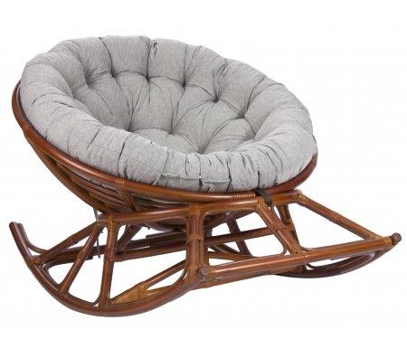 Кресло-качалка Papasan Rocker Chair с подушкой коньякКресла-качалки<br><br>