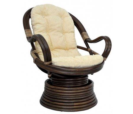 Кресло механическое Ellena-Б MatteКресла-качалки<br>Кресло оснащено механизмом, который позволяет качаться и поворачиваться на 360 градусов. Оплетка сделана из кожи. Ротанг сделан без какого-либо покрытия, что придает креслу более натуральный и матовый вид.<br>