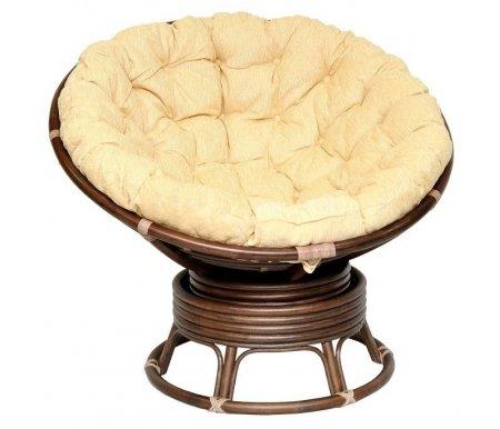 Кресло механическое Papasan 23/01Pr Б MatteКресла-качалки<br>Встроенный механизм кресла позволяет равномерно покачиваться или поворачиваться. Оплетка сделана из кожи. Ротанг сделан без какого-либо покрытия, что придает креслу более натуральный и матовый вид.<br>