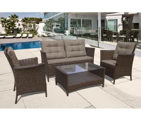 Купить Комплект мебели Афина, с диваном AFM-804 коричневый, Россия, bown