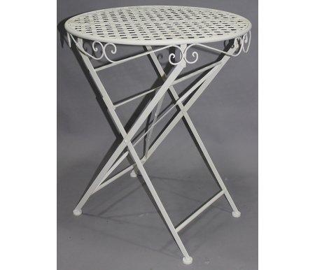 Складной стол Patio белыйСтолы<br>Сделан из стального сплава с напылением краски.<br>