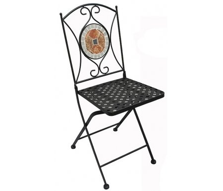 Купить Складной стул Тетчер, JULIA черный с мозаикой, Китай