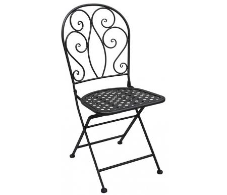 Складной стул Madlen черныйСтулья<br>Изготовлен из стального сплава с напылением краски.<br>