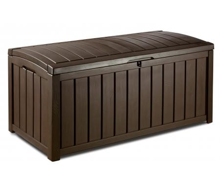 Сундук FalkМебель для уличного хранения<br>Размер внутренний (Ш x Г x В): 122 x 54 x 58 см. <br> Размер упаковки: 132 x 75 x 13 см. <br> <br> Объем упаковки 0,13 куб.м. <br> Объем сундука в собранном виде: 390 л. <br> <br>  Особенности: <br> <br>  - стилизован под дерево;<br> <br>  - не требует ухода;<br> <br>  - возможность для запирания на замок;<br> <br>  - устойчив к ржавчине и выцветанию;<br> <br>  - всепогодный пластик;<br> <br>  - легкая и быстрая сборка;<br> <br>  - содержимое всегда остается сухим;<br> <br>  - гидролифт для плавного открывания и удерживания крышки.<br>