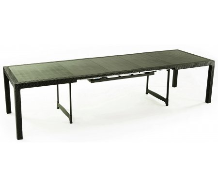 Стол Camel коричневыйПластиковые столы<br>Каркас стола стилизован под плетение из искусственного ротанга.<br>
