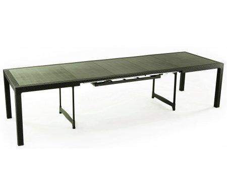 Стол EmielПластиковые столы<br>Стол сделан из прочного погодостойкого пластика с имитацией под плетение искусственного ротанга.<br>