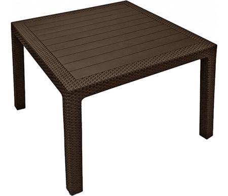 Стол PatrikПластиковые столы<br>Стол сделан из прочного погодостойкого пластика с имитацией под плетение искусственного ротанга.<br>