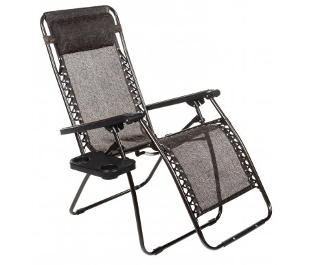 Купить Кресло-шезлонг Афина, Фея-Релакс CHO-12B, сталь, ткань