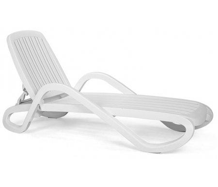 Купить Шезлонг-лежак Nardi, пластиковый Eden белый
