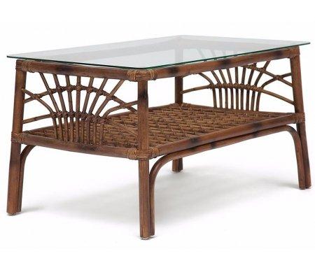 Купить Кофейный стол Тетчер, из ротанга Secret De Maison Kavanto 83 х 53 х 47 см коричневый антик, коричневый античный / brown antique