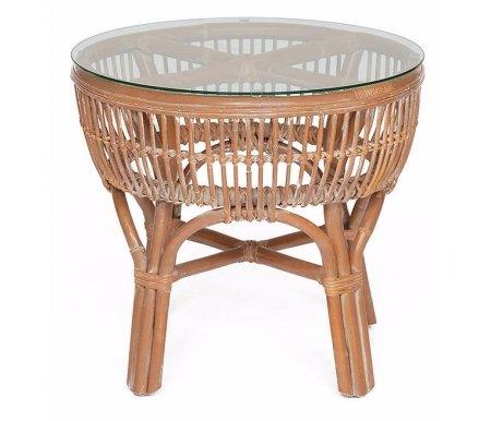 Купить Кофейный стол Тетчер, из ротанга Secret De Maison Koln 62 х 62 х 56 см натуральный / white wash, Индонезия, натуральный + white wash
