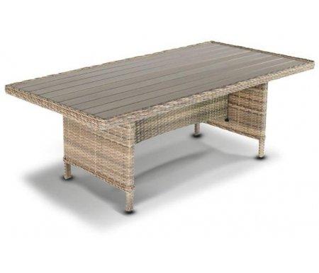 Купить Обеденный стол 4sis, из ротанга Martin, серо-соломенный