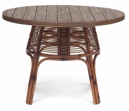 Купить Стол обеденный Тетчер, из ротанга Secret De Maison Lean 110 х 110 х 76 см коричневый антик, Индонезия, коричневый античный / Brown Antique