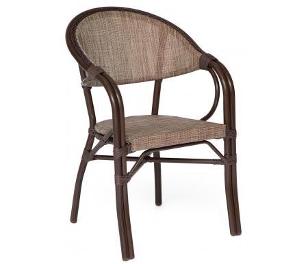 Купить Кресло Тетчер, Milano mod. AD642003S-TXT коричневое / бежевое, коричневый / бежевый
