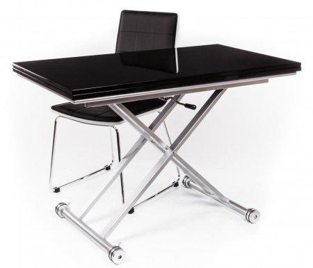 Стол-трансформер B2166 черный лакСтолы<br>Каркас стола-трансформера B2166 изготовлен из матового металла. Стол обладает удобной раскладкой, позволяющей увеличить полезную площадь в два раза. Также можно регулировать высоту стола (от 27 см до 74 см).<br>Цвет - черный лак.<br><br>Длина: 60 см (раскладывается до 120 см)<br>Ширина: 110 см<br>Высота: от 27 см до 74 см<br>Цвет столешницы: черный лак<br>Материал каркаса: матовый металл<br>ДЕФЕКТ: незначительный дефект<br>Количество: 1 шт.
