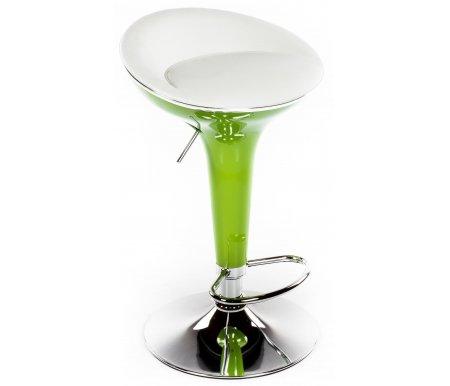 Барный стул Denis бело-зеленыйСтулья<br>Часть каркаса стула выполнена из ABS-пластика.<br><br>Ширина: 40 см<br>Глубина: 40,5 см<br>Высота: от 70 см до 91,5 см<br>Материал каркаса: хромированный металл<br>Цвет каркаса: хром / зеленый<br>Материал обивки: кожзаменитель<br>Цвет обивки: белый<br>ДЕФЕКТ: незначительный дефект<br>Количество: 6 шт
