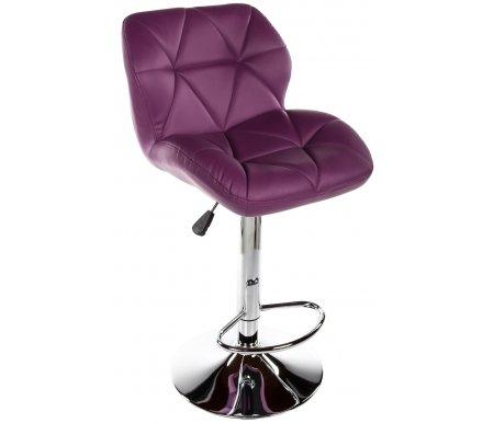 Барный стул Trio фиолетовыйСтулья<br>Высота спинки от сиденья 30 см. <br>Диаметр сиденья 58 см.<br><br>Ширина сиденья: 41 см<br>Глубина сиденья: 33 см<br>Высота сиденья: 60 см<br>Материал каркаса: металл<br>Цвет каркаса: хром<br>Материал обивки: искусственная кожа<br>Цвет сиденья: фиолетовый<br>ДЕФЕКТ: незначительный дефект