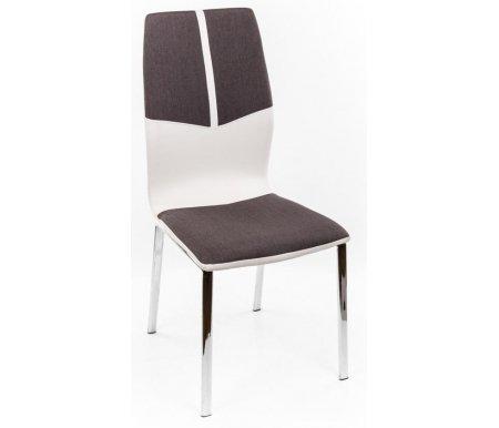 Стул F668 серый / белыйСтулья<br><br><br>Ширина сиденья: 44 см<br>Глубина сиденья: 43 см<br>Высота спинки: 90 см<br>Материал каркаса: хромированный металл<br>Материал обивки: ткань / кожзаменитель<br>Цвет обивки: серый / белый<br>ДЕФЕКТ: незначительный дефект<br>Количество: 12 шт.