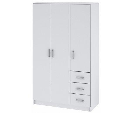 Купить Шкаф для одежды НК мебель, трехдверный Хай-тек белый, Россия