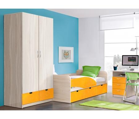 Купить Шкаф двухдверный Диал, Бриз МДФ квадрат манго / ясень светлый