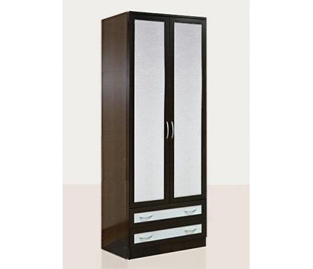 Купить Шкаф двухдверный Диал, Кэт — 1 Caiman VR04 венге / caiman белый