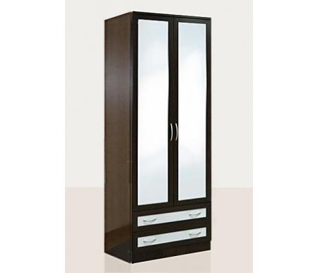 Купить Шкаф двухдверный Диал, Кэт — 1 Caiman VR04G с зеркалом венге / caiman белый