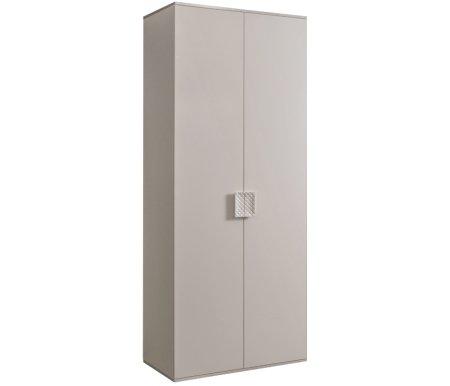 Шкаф Ярцево Diora ДШ2/2 слоновая кость / серебро фото