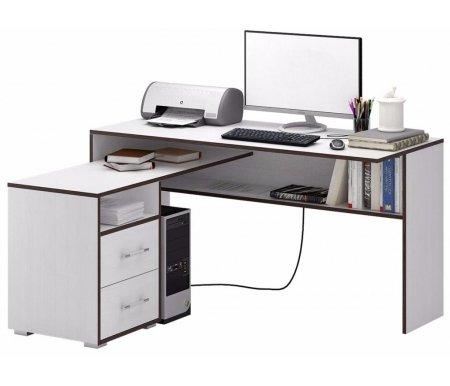 Компьютерный стол Краст-1 МСТ-УСК-01-##-16 белый (контраст)Компьютерные столы<br>Выдвижные ящики на роликовых направляющих.<br><br>      <br>    <br><br>Срок изготовления - 7 рабочих дней!<br>