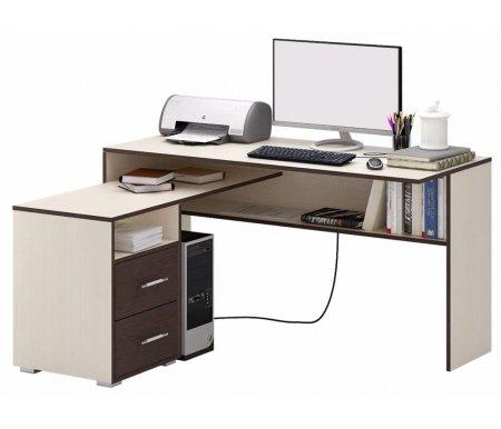 Компьютерный стол Краст-1 МСТ-УСК-01-##-16 дуб молочный / венге (модерн)Компьютерные столы<br>Выдвижные ящики на роликовых направляющих.<br><br>      <br>    <br><br>Срок изготовления - 7 рабочих дней!<br>