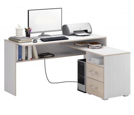 Компьютерный стол Краст-1 МСТ-УСК-01-##-16-ПР правый белый / дуб сономаКомпьютерные столы<br>Выдвижные ящики на роликовых направляющих. <br> <br>      <br>     <br> <br>Срок изготовления - 7 рабочих дней!<br>