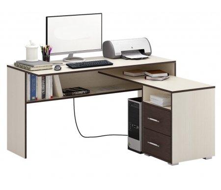 Компьютерный стол Краст-1 МСТ-УСК-01-##-16-ПР правый дуб молочный / венгеКомпьютерные столы<br>Выдвижные ящики на роликовых направляющих. <br> <br>      <br>     <br> <br>Срок изготовления - 7 рабочих дней!<br>