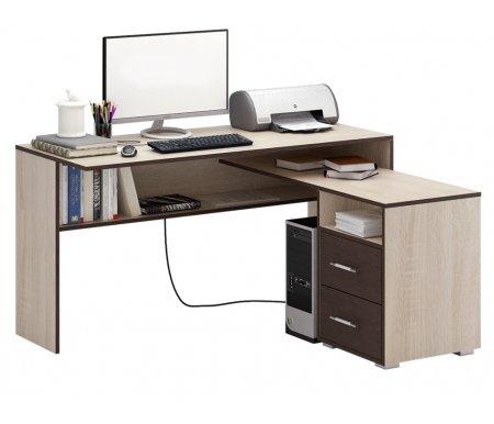 Компьютерный стол Краст-1 МСТ-УСК-01-##-16-ПР правый дуб сонома / венгеКомпьютерные столы<br>Выдвижные ящики на роликовых направляющих. <br> <br>      <br>     <br> <br>Срок изготовления - 7 рабочих дней!<br>